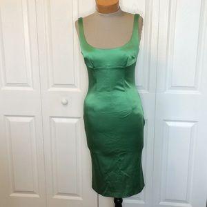 Dolce & Gabbana emerald cocktail dress Sz 6